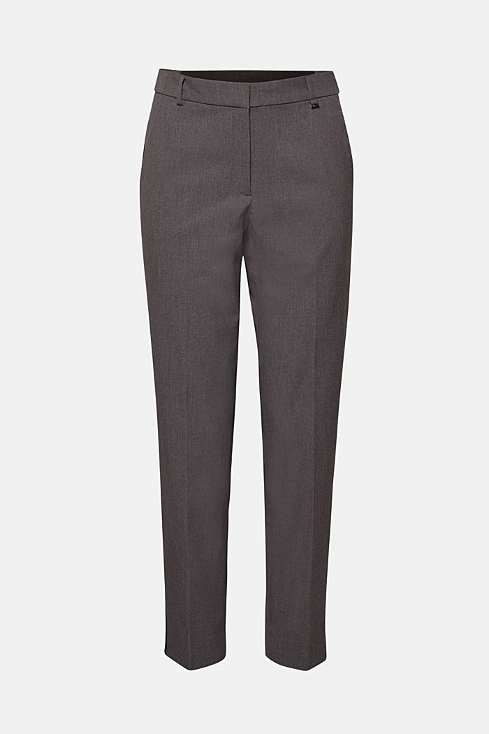 Stretch tracksuit bottoms with tuxedo stripes