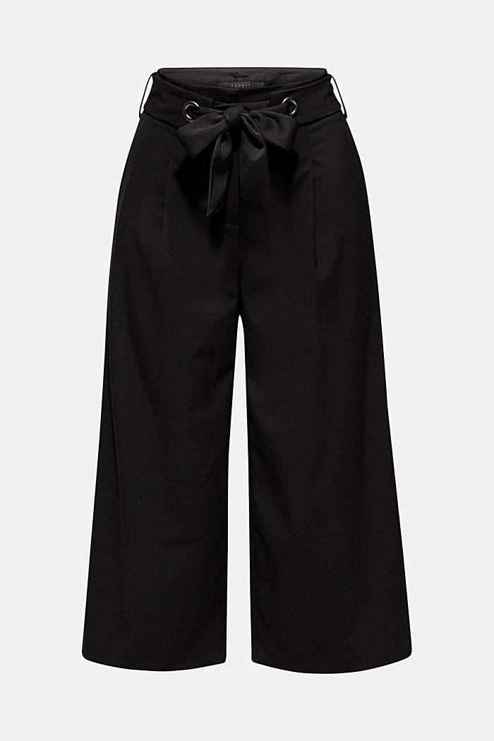 Culotte mit Bindegurt, BLACK, detail image number 0