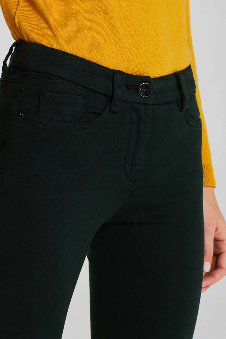 Shaping trousers with 4-way stretch, FOREST, detail image number 5