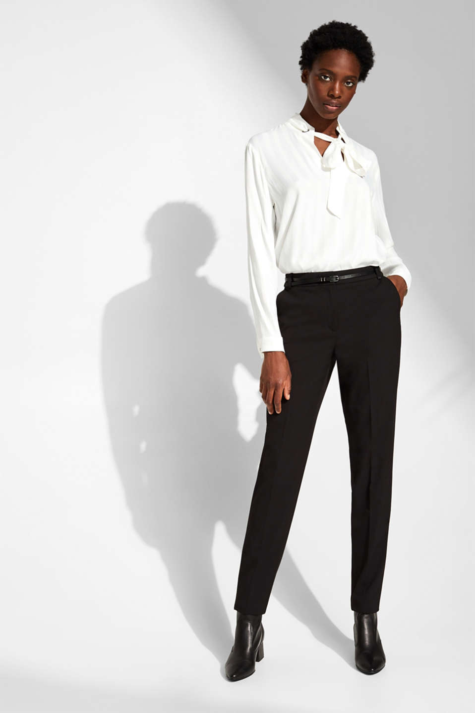 Esprit - Pantalon stretch Mix + Match PURE BUSINESS