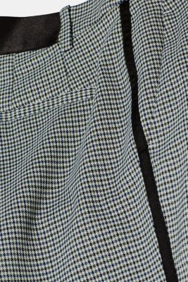 Stretch trousers with a houndstooth and a grosgrain ribbon, BOTTLE GREEN, detail