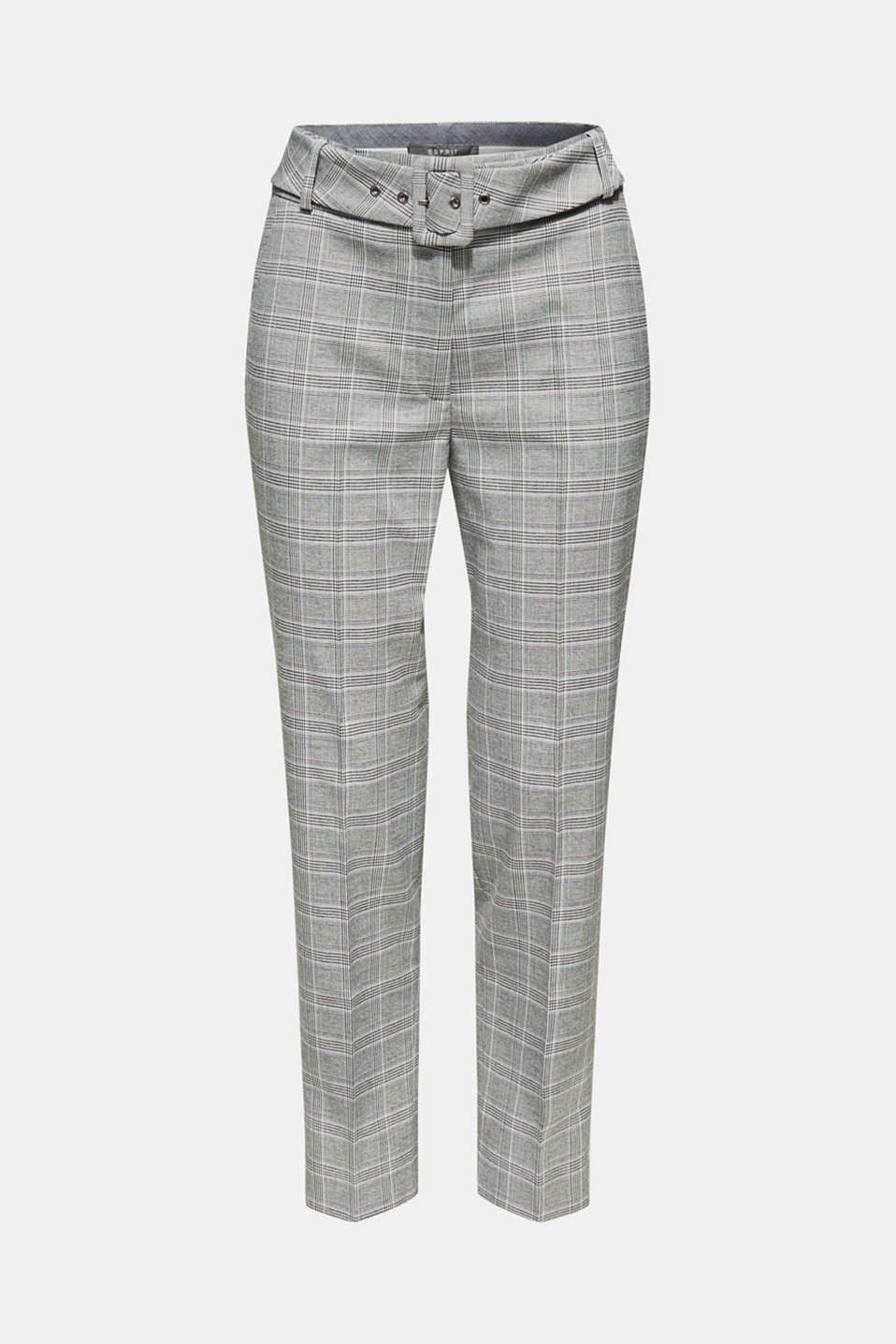 Stretch trousers with a belt, GREY, detail image number 7