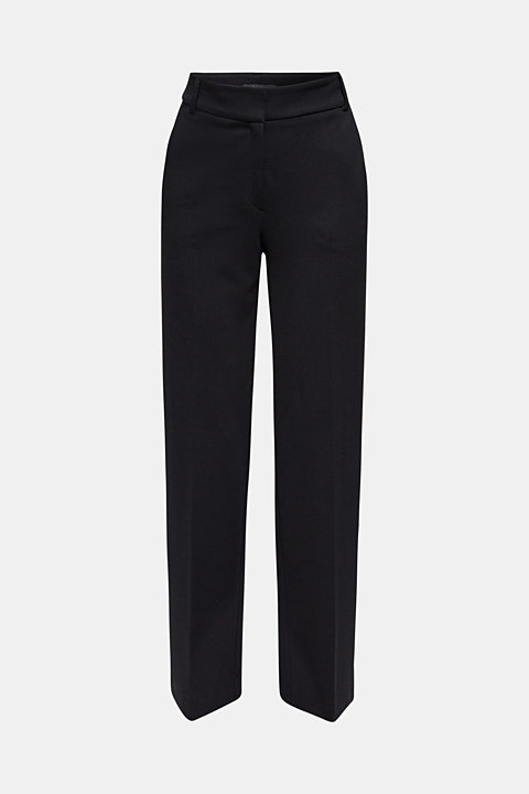 Wide jersey trousers with stretch