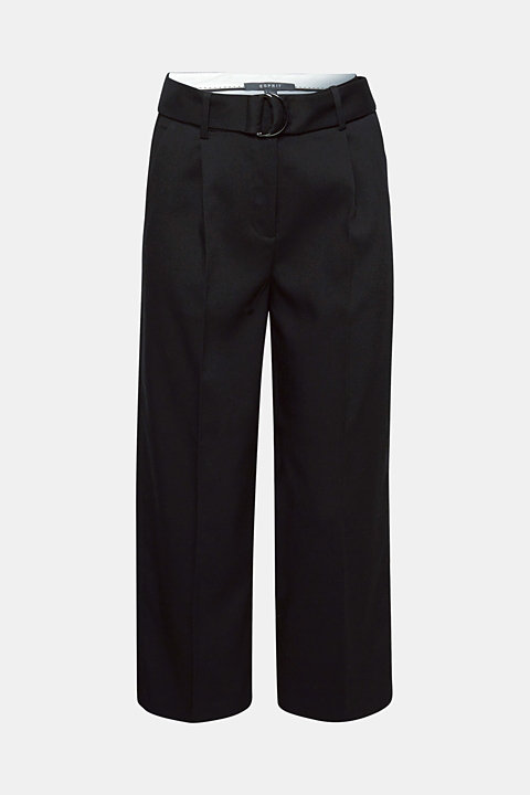 Stretch culottes with a belt