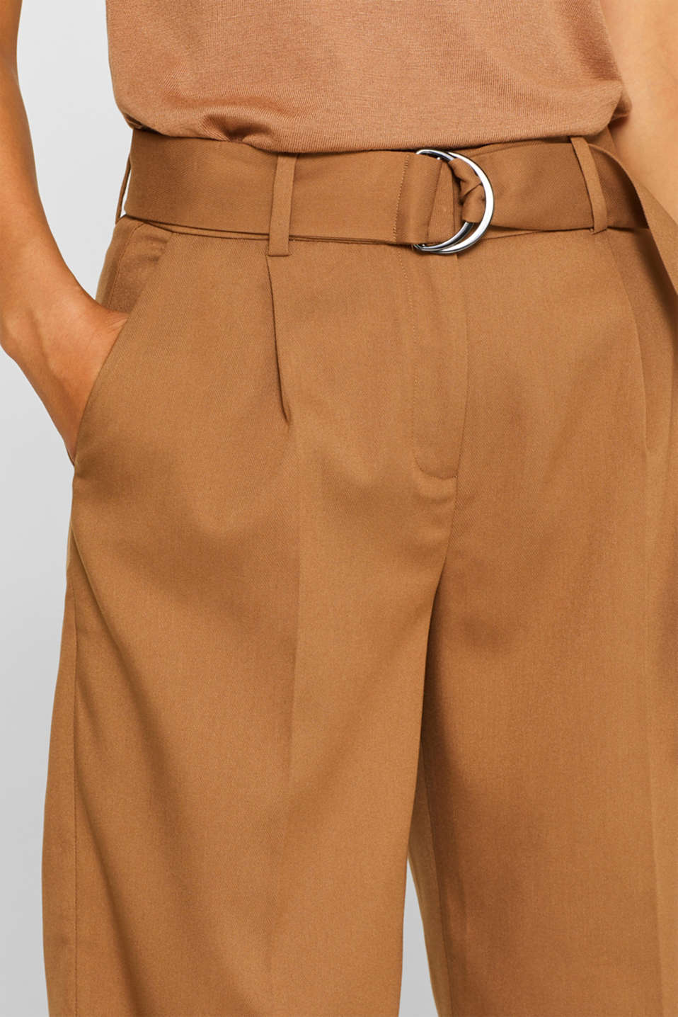 Pants woven, CAMEL, detail image number 2