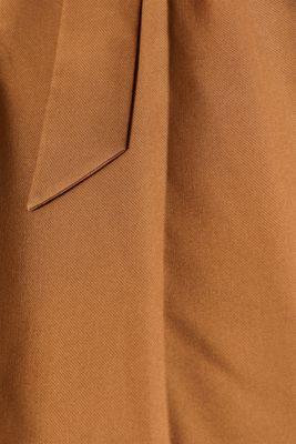 Stretch culottes with a belt