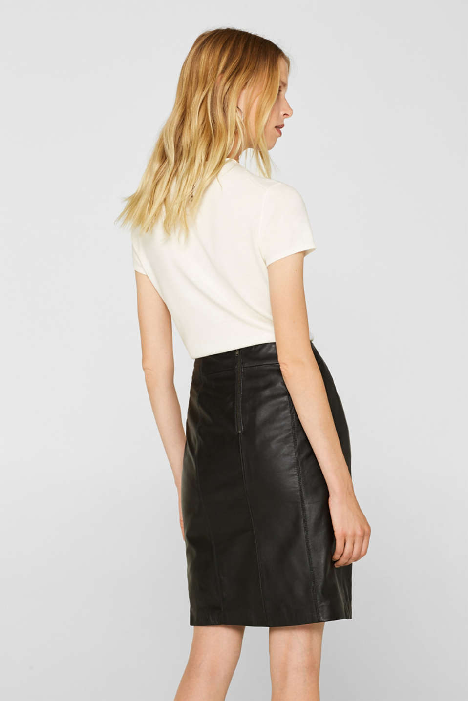 Skirts leather, BLACK, detail image number 3
