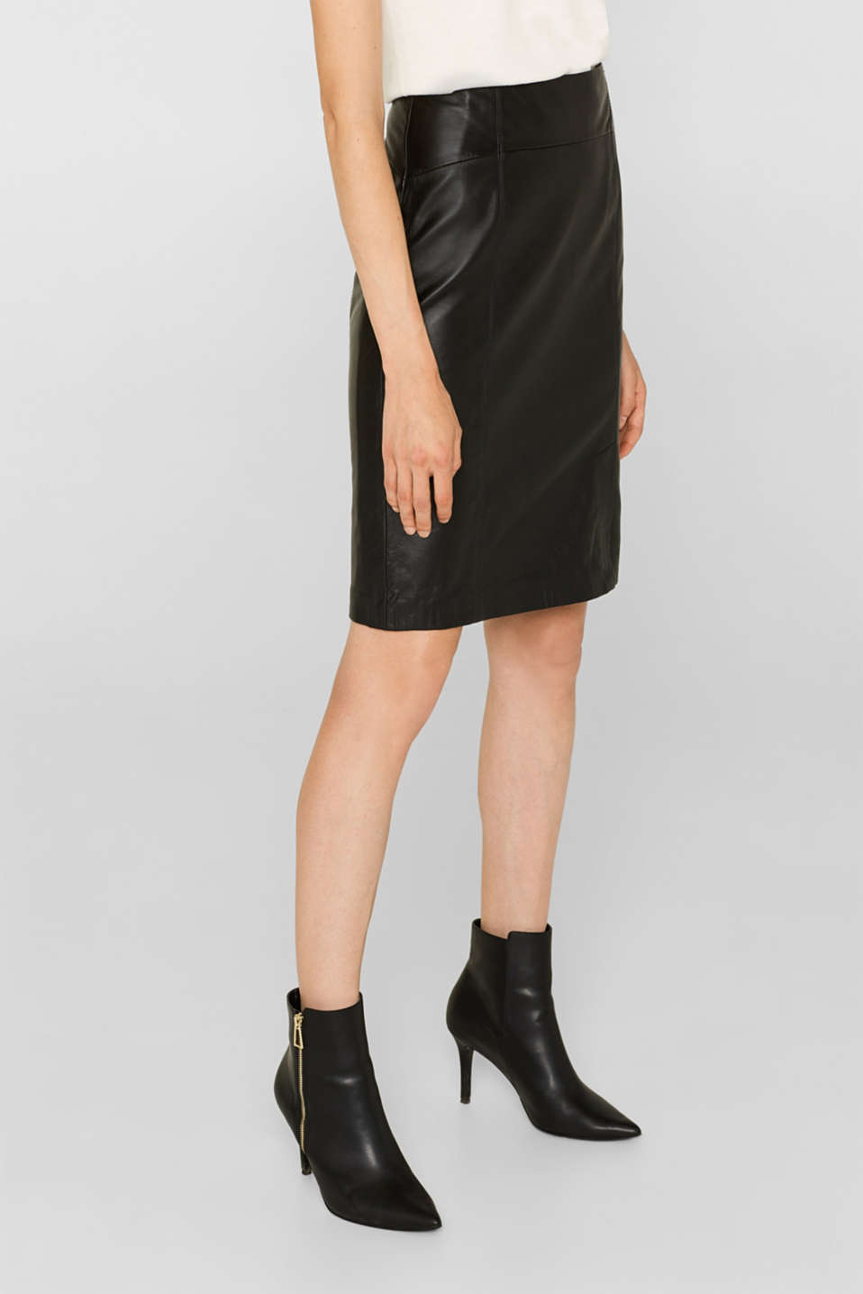 Skirts leather, BLACK, detail image number 5