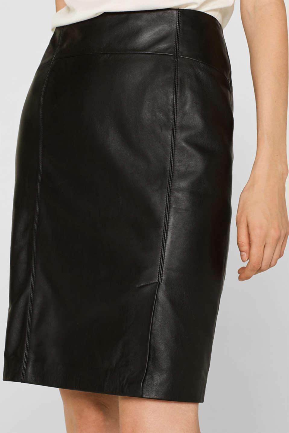 Skirts leather, BLACK, detail image number 2