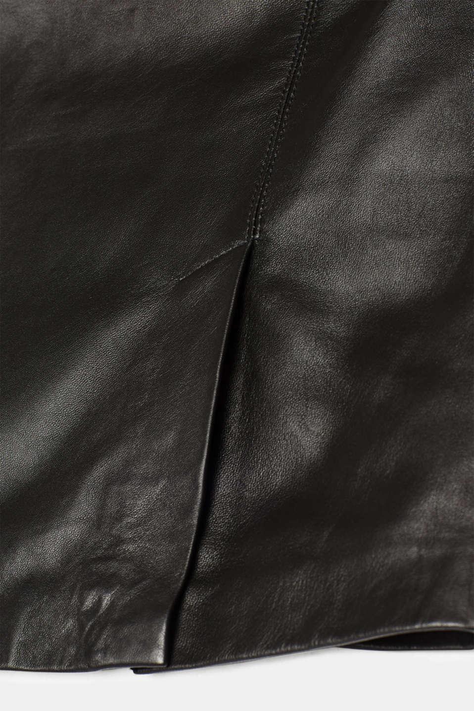 Skirts leather, BLACK, detail image number 4