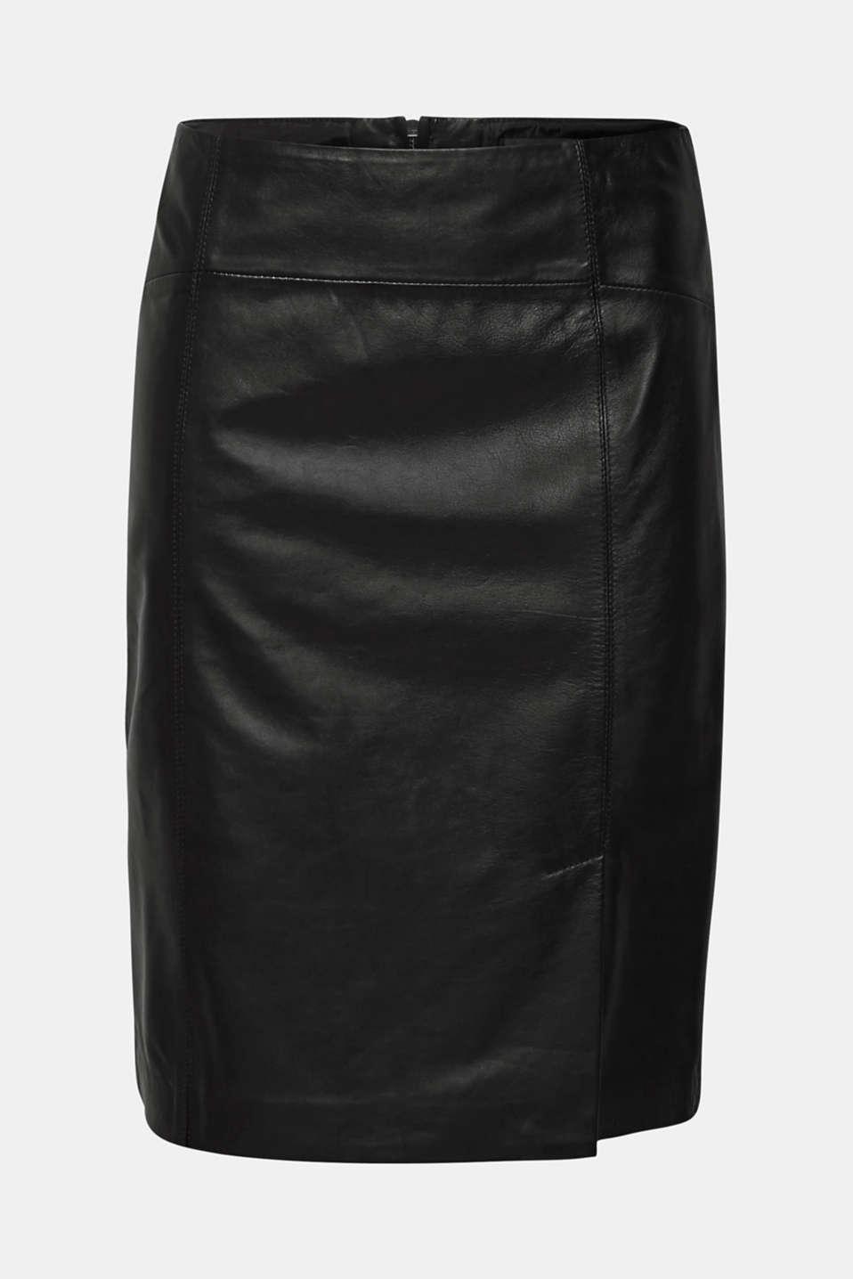 Skirts leather, BLACK, detail image number 6