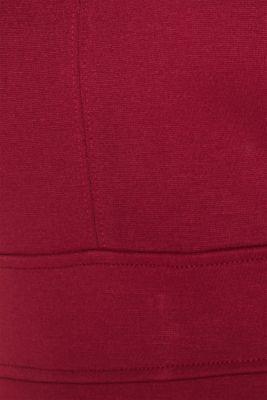 Stretch dress made of dense punto jersey, GARNET RED, detail