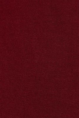 Wrap-over knit dress with LENZING™ ECOVERO™, GARNET RED, detail