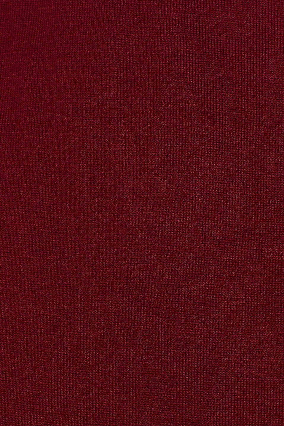 Wrap-over knit dress with LENZING™ ECOVERO™, GARNET RED, detail image number 5