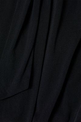Wrap-effect mesh dress, BLACK, detail