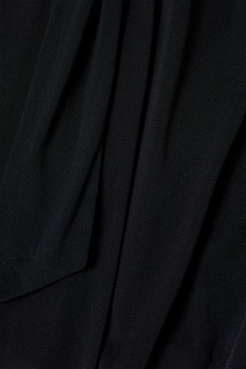 Wrap-effect mesh dress, BLACK, detail image number 4