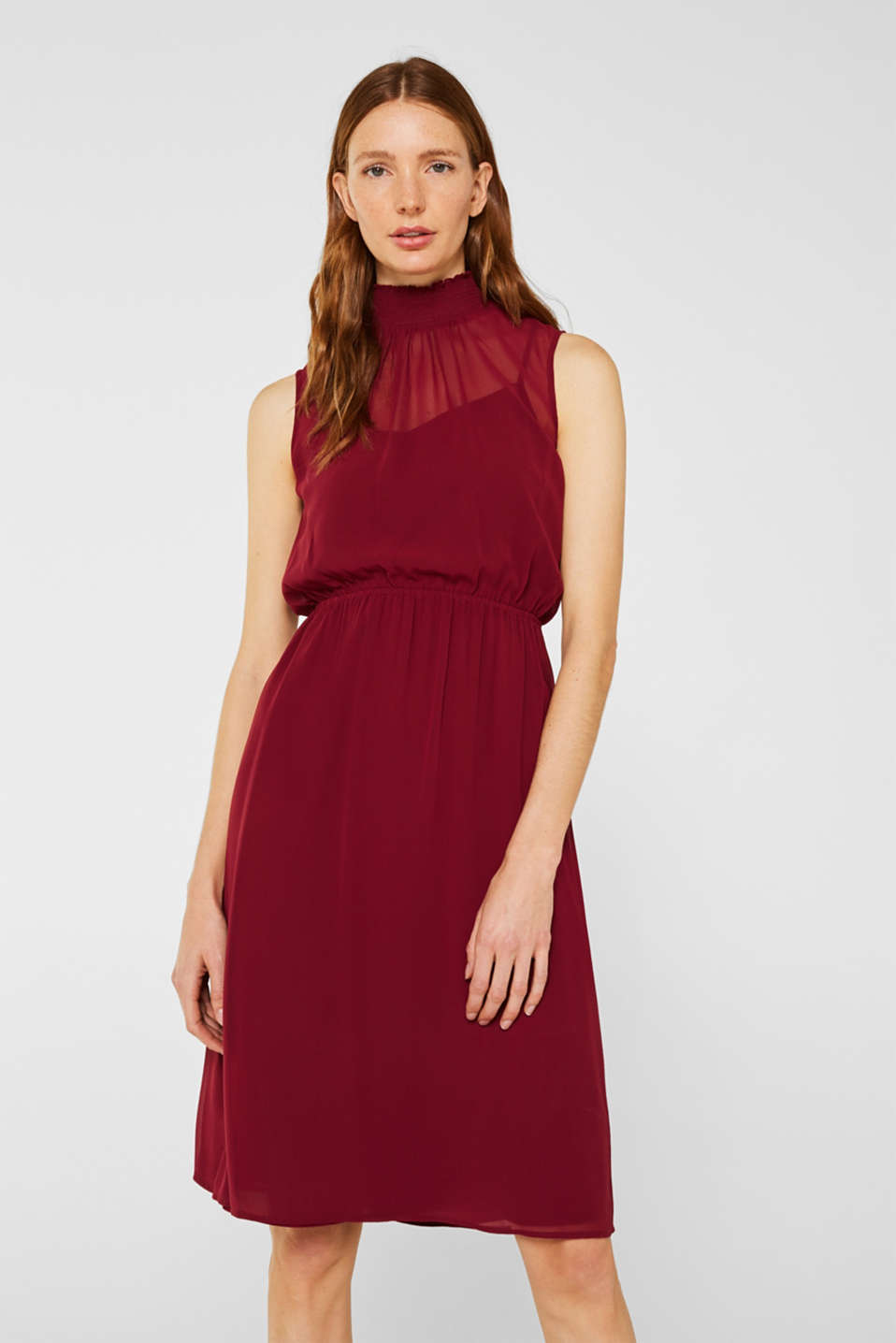 Esprit - Chiffon dress with slip