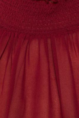 Chiffon dress with slip, GARNET RED, detail