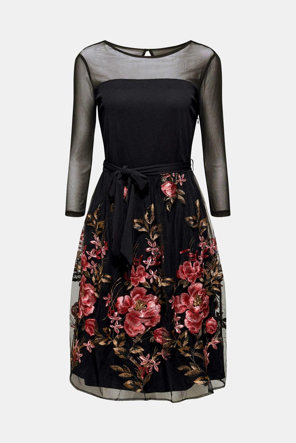 Dresses knitted, BLACK, detail image number 8