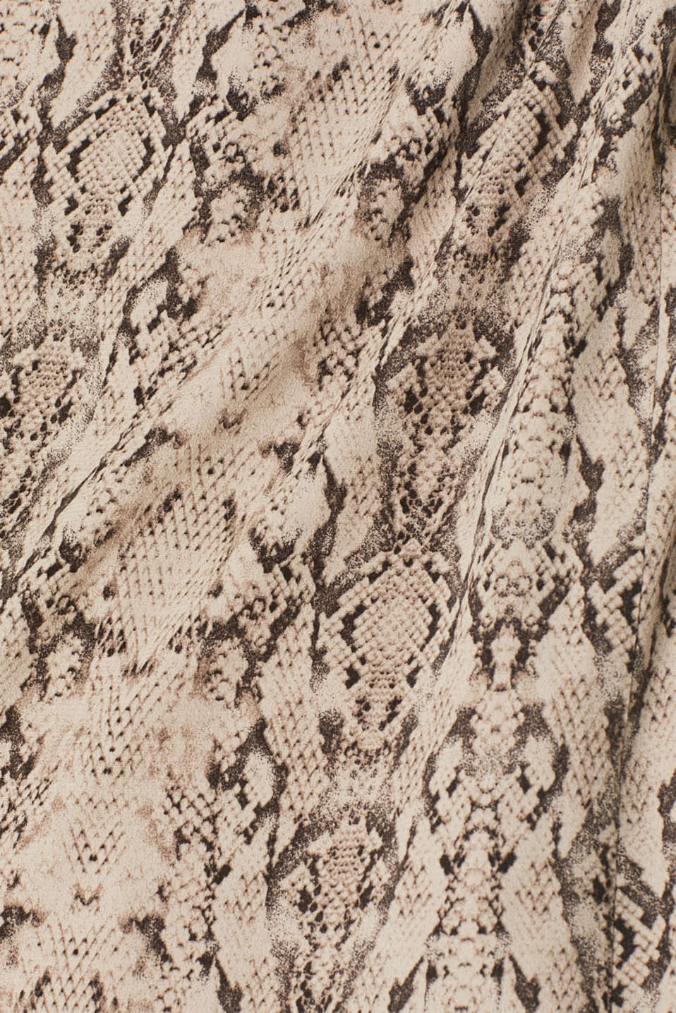 Wrap-over dress with a snake print, TAUPE, detail image number 4