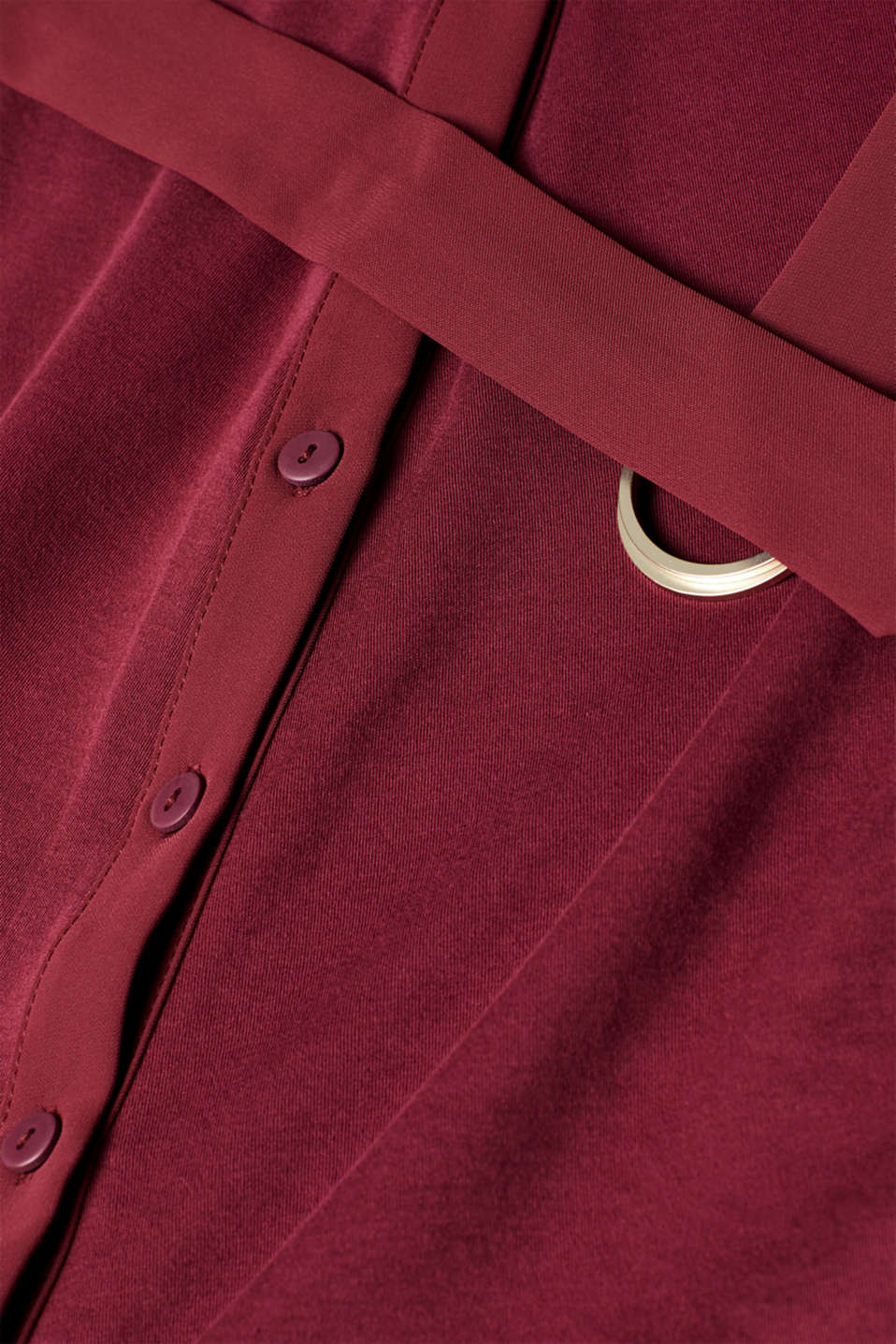 Jersey dress with fabric details, GARNET RED, detail image number 4