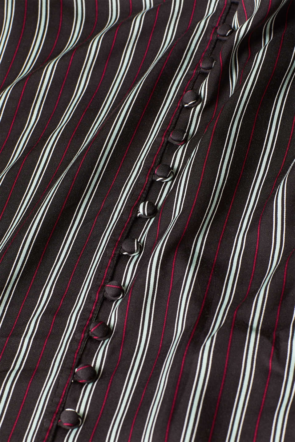 Printed blouse with a decorative button placket, BLACK 2, detail image number 4