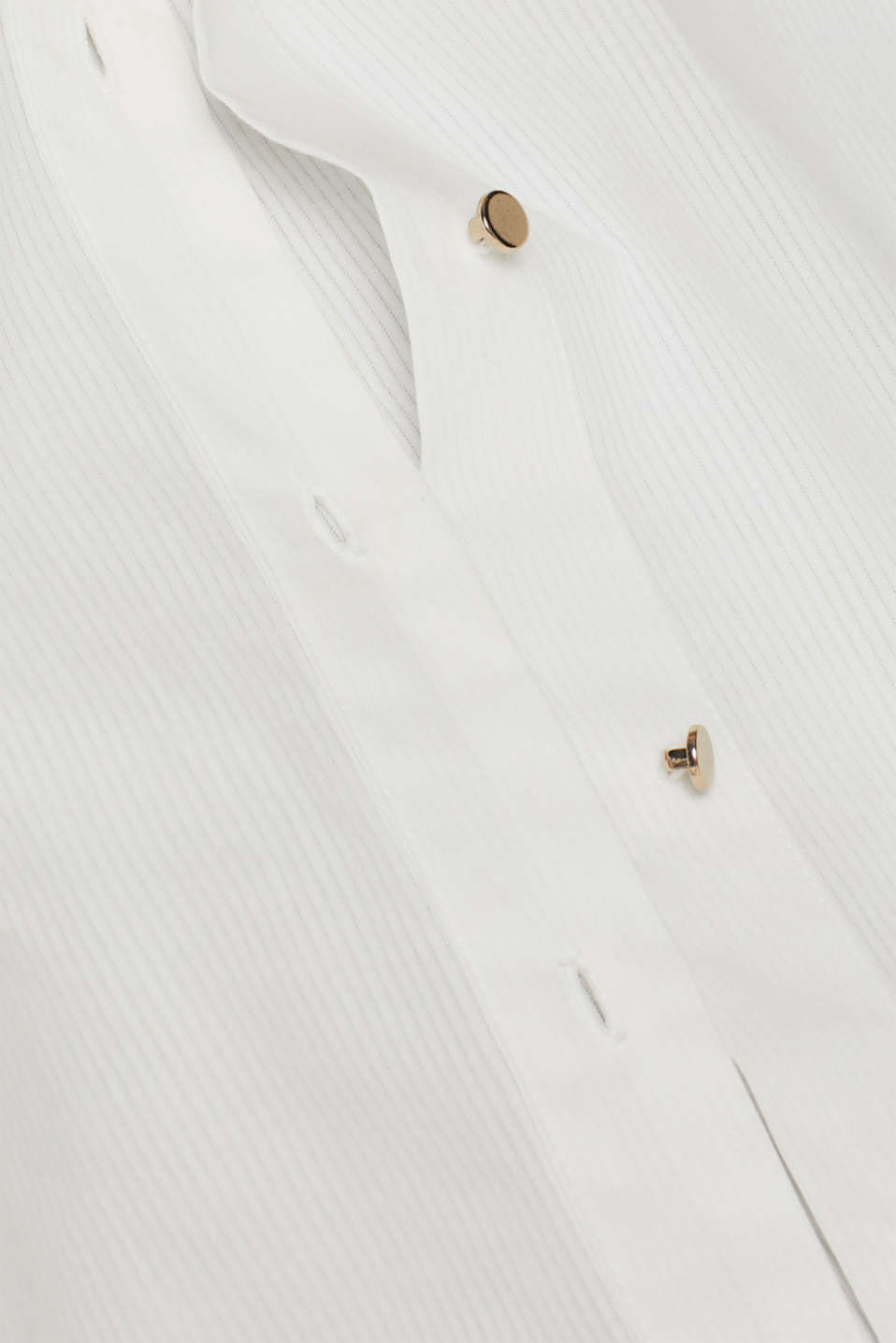 Semi-sheer striped blouse, 100% cotton, OFF WHITE, detail image number 3