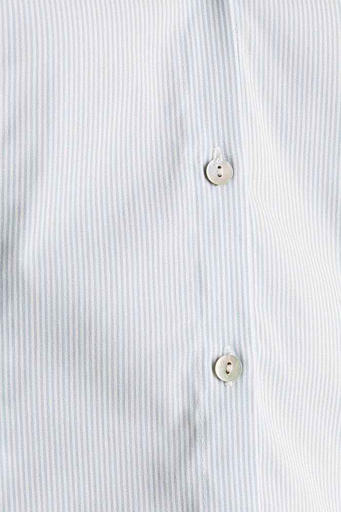 Stretch blouse with an open collar, LIGHT BLUE, detail image number 4