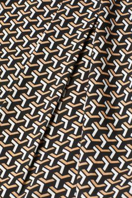 High-neck blouse made of poplin, BLACK, detail