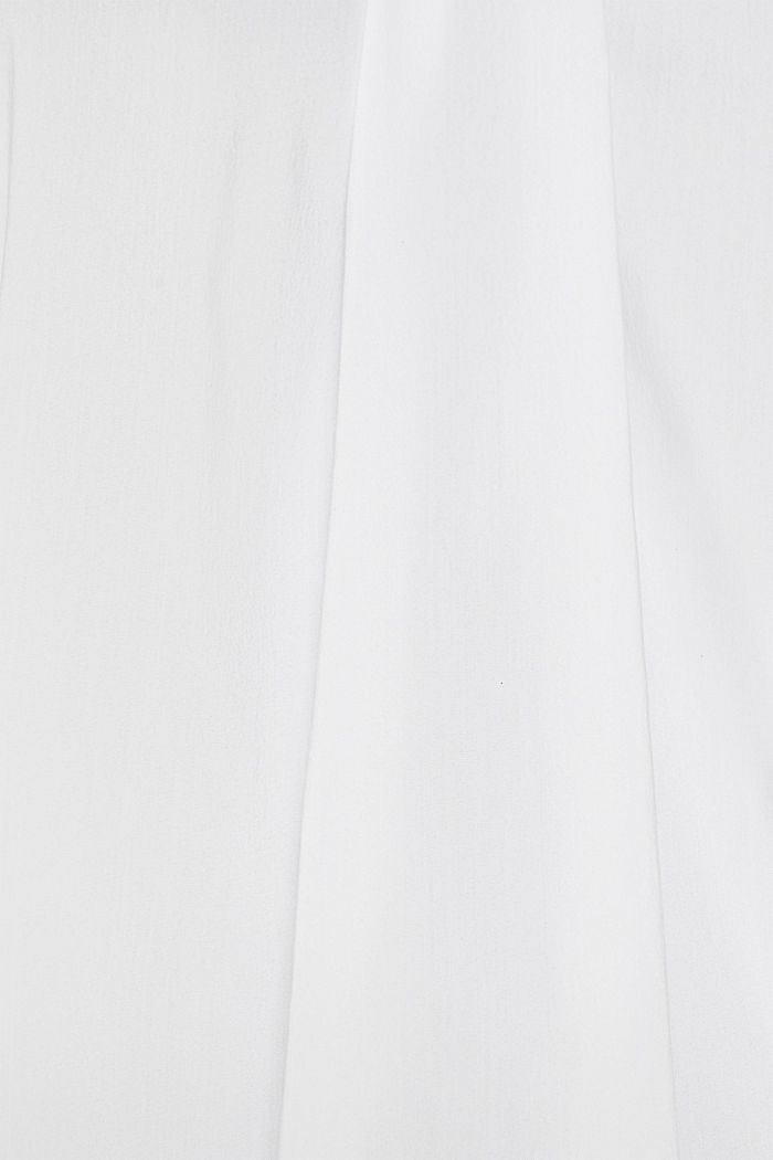 High-neck blouse made of poplin, WHITE, detail image number 4