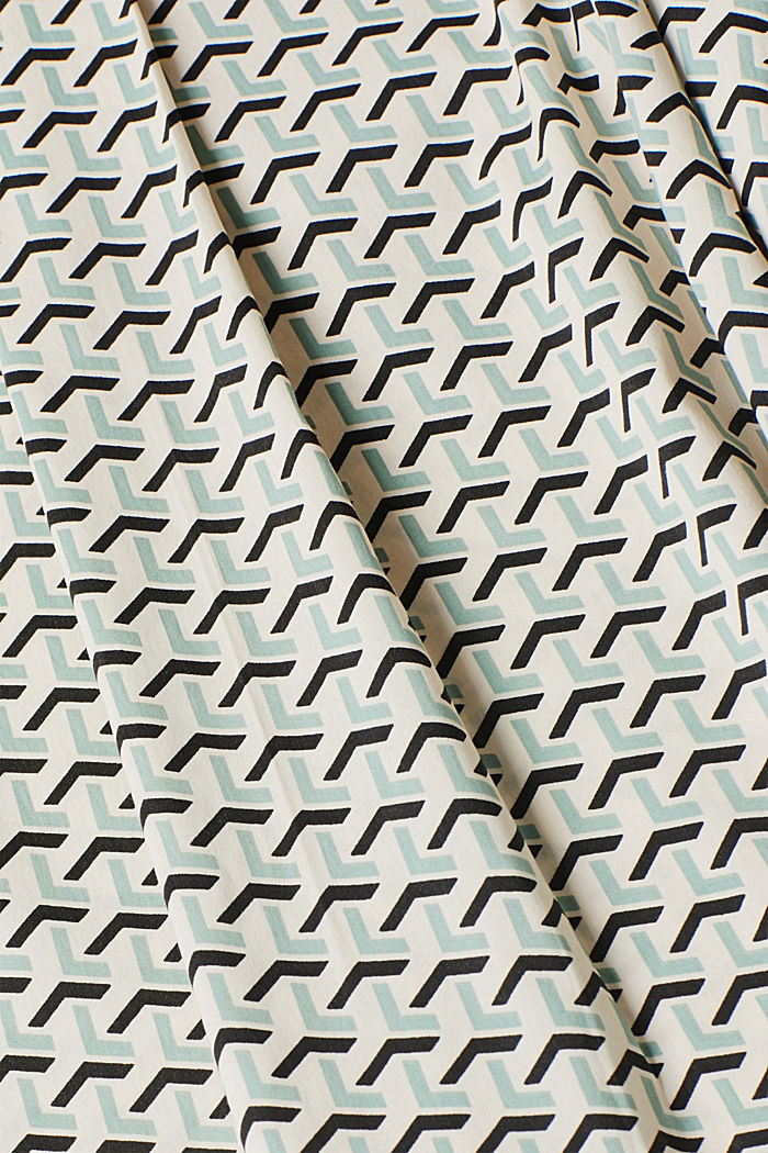 High-neck blouse made of poplin, OFF WHITE, detail image number 4