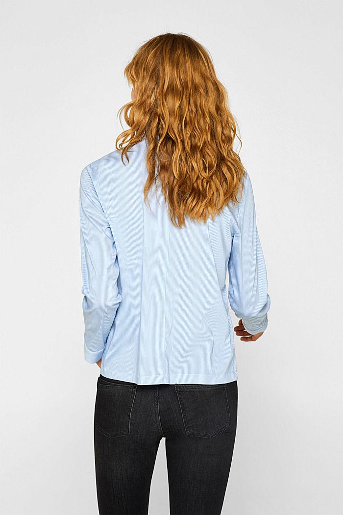 High-neck blouse made of poplin, LIGHT BLUE, detail image number 3