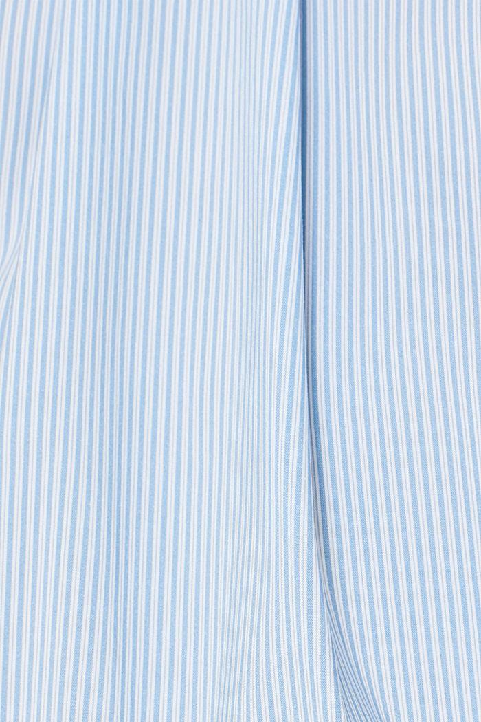 High-neck blouse made of poplin, LIGHT BLUE, detail image number 4