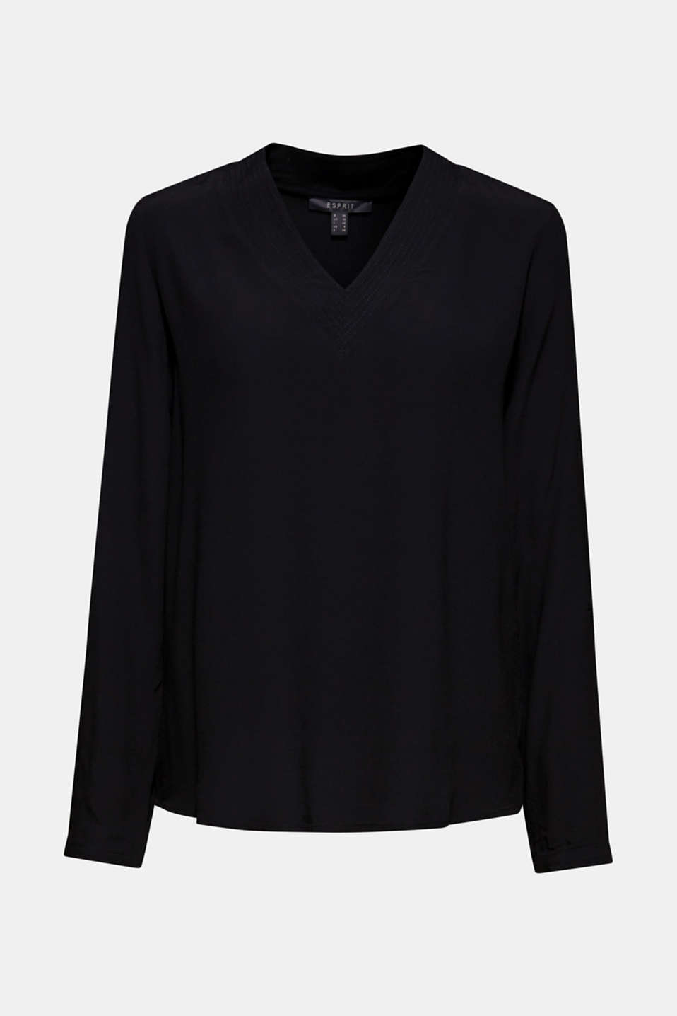 Blouses woven, BLACK, detail image number 5