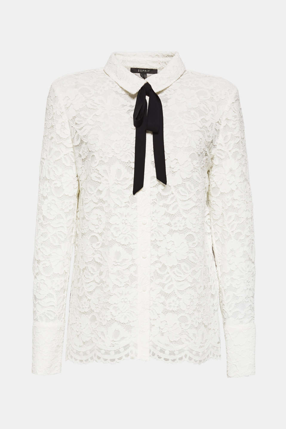 Lace blouse with a bow