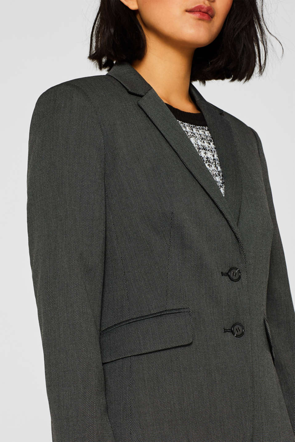 Blazers woven, ANTHRACITE, detail image number 2