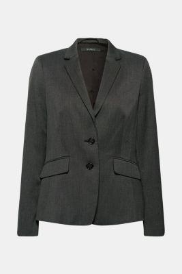 SALT'N PEPPER Mix + match stretch blazer, ANTHRACITE, detail