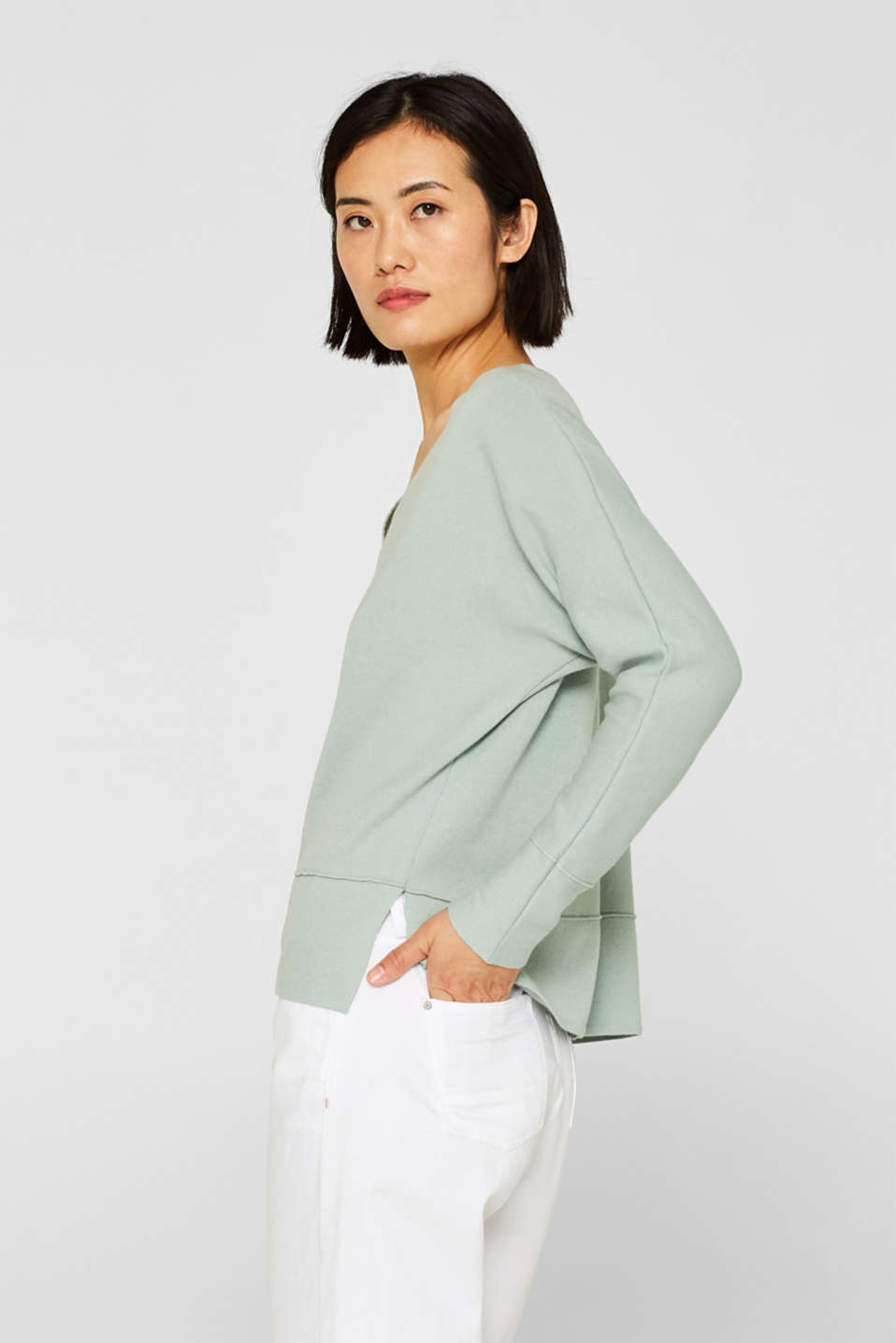 Esprit - Batwing sleeve sweatshirt with inside-out seams