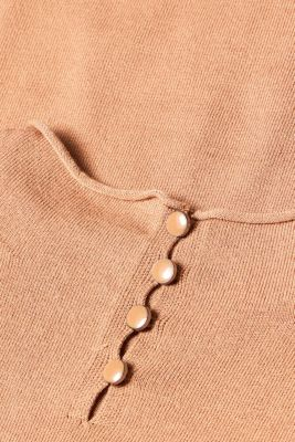 Short-sleeved jumper with a stand-up collar, CARAMEL 5, detail