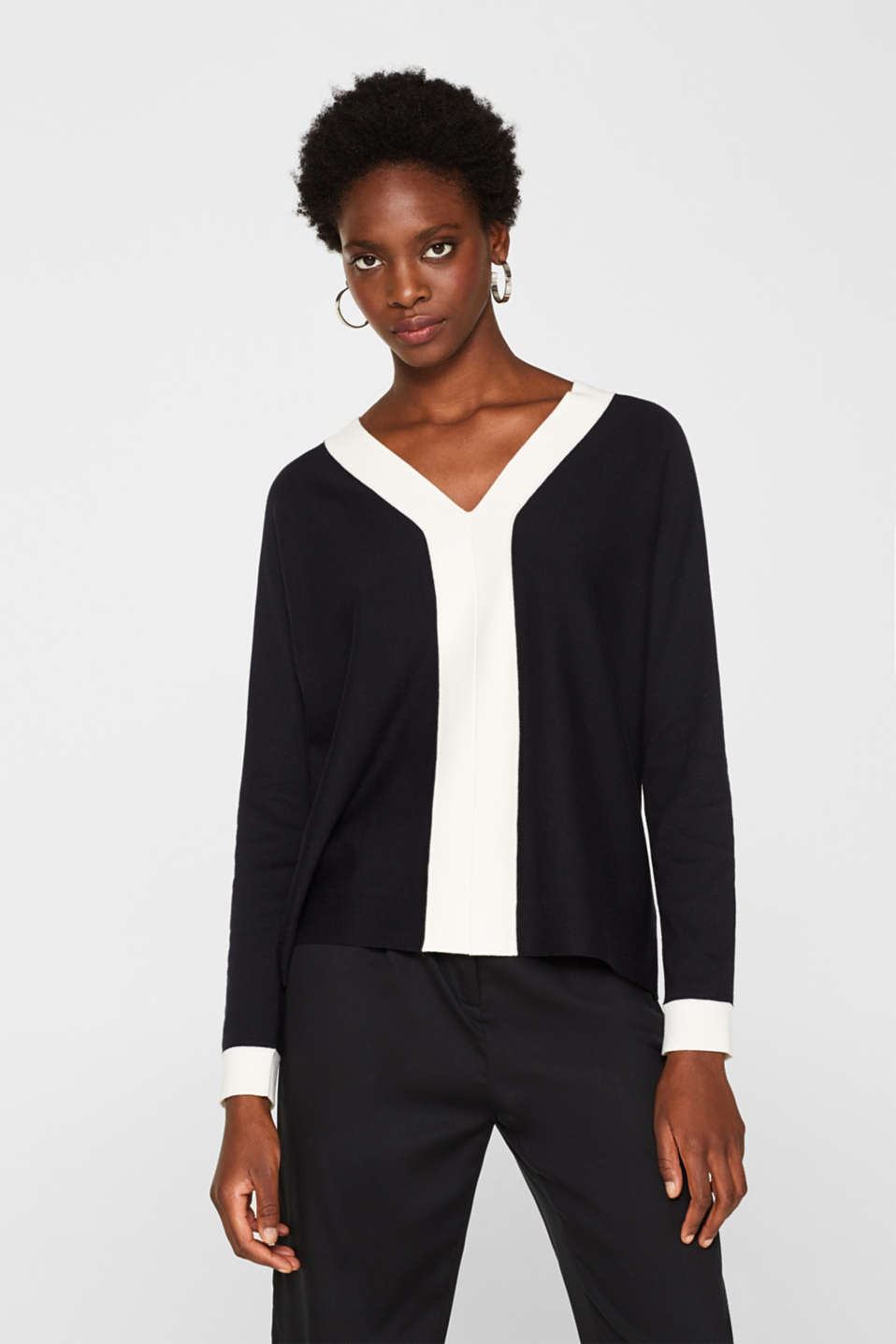 Esprit - Jumper with contrasting trims