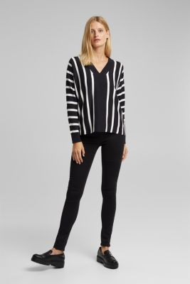 Jumper with contrasting trims, BLACK 3, detail