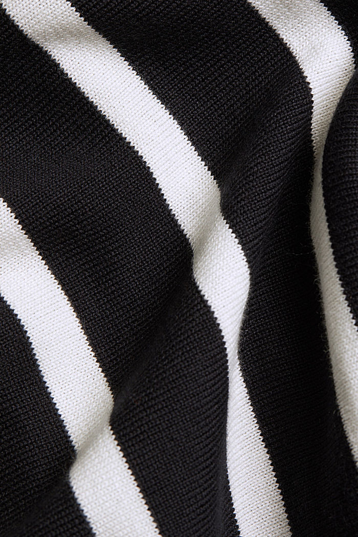 Jumper with contrasting trims, BLACK, detail image number 4