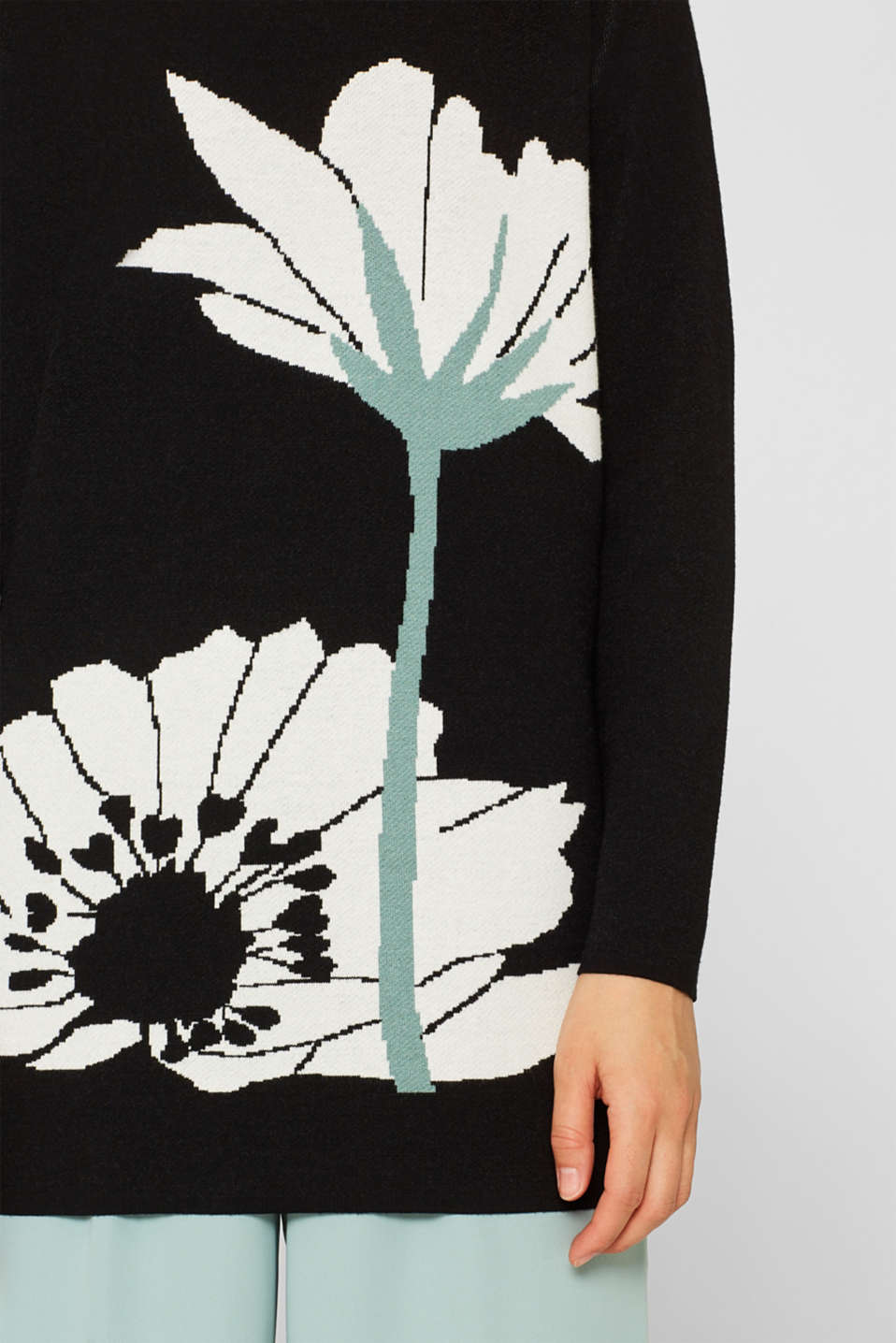 Sweaters, BLACK 2, detail image number 2