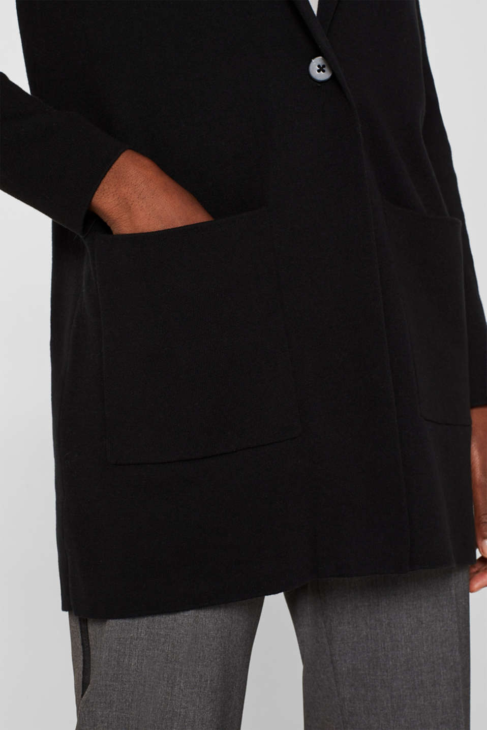Sweaters cardigan, BLACK, detail image number 5