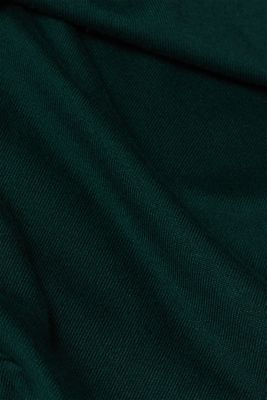 Fine knit cardigan with LENZING™ ECOVERO, BOTTLE GREEN, detail