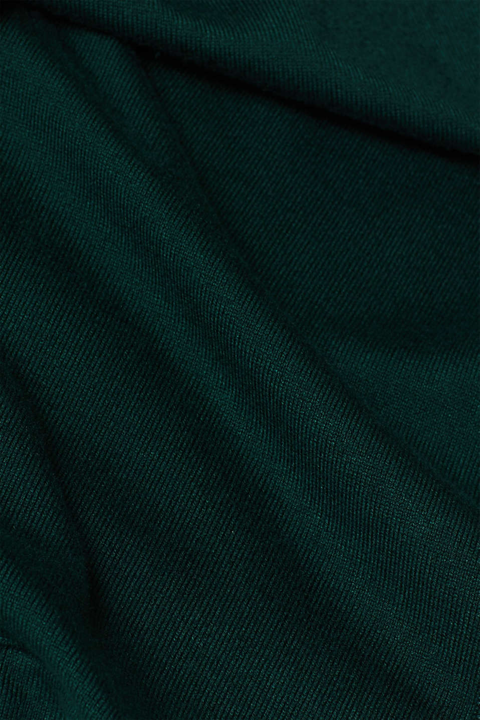 Fine knit cardigan with LENZING™ ECOVERO, BOTTLE GREEN, detail image number 4