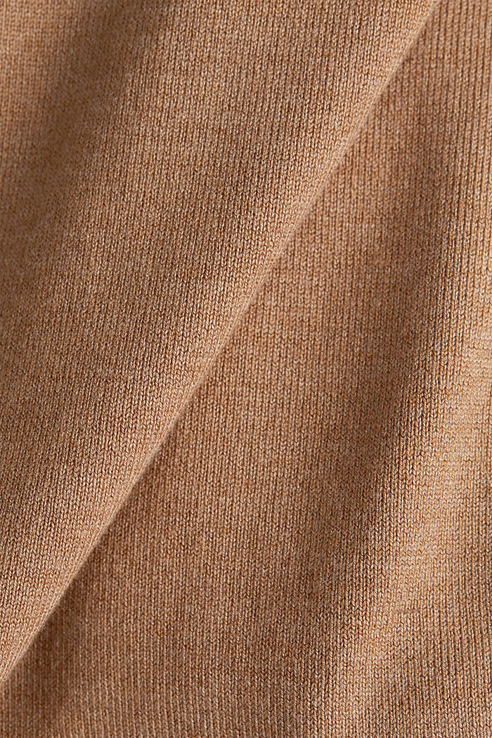Jumper containing LENZING™ ECOVERO™, CARAMEL, detail image number 4