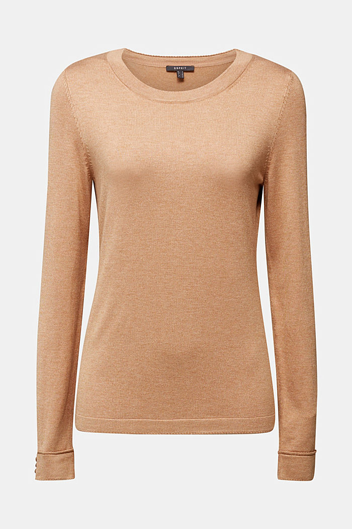 Jumper containing LENZING™ ECOVERO™, CARAMEL, detail image number 6