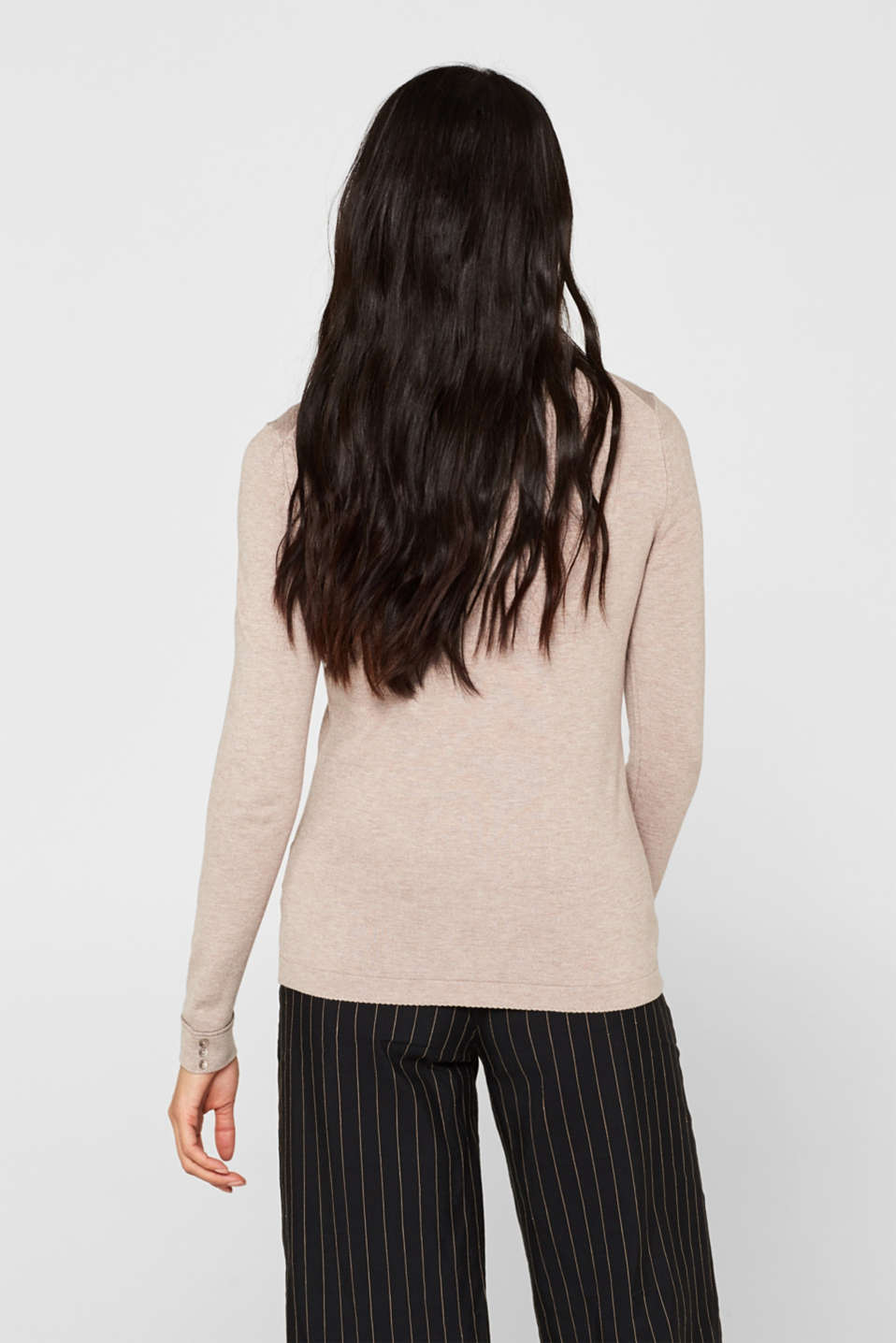 Sweaters, LIGHT TAUPE 5, detail image number 3