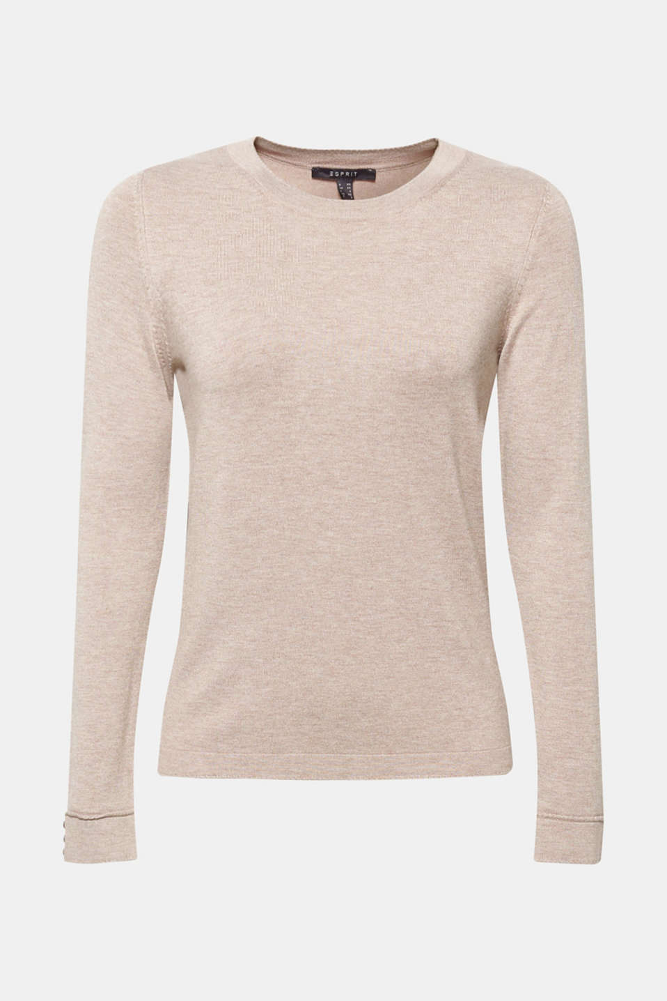 Sweaters, LIGHT TAUPE 5, detail image number 6